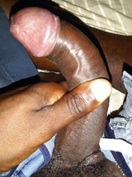 Long and curved black dick, amateur..