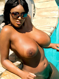 Is this busty ebony whore a bitch or..